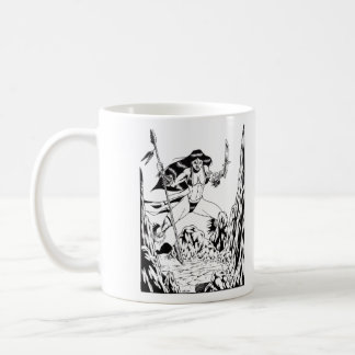 Cave Girl Classic White Coffee Mug