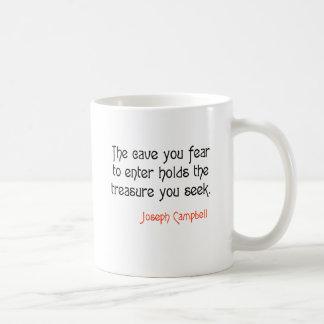 Cave Joseph Campbell Inspirational Quote Classic White Coffee Mug