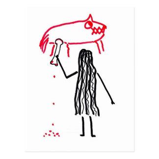 Cave Man Artist Postcard