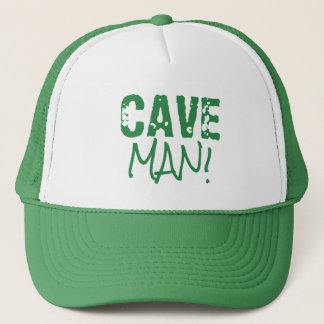 CAVE MAN Words Green Hat