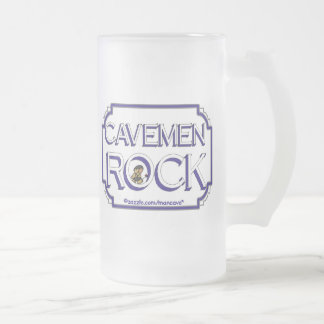 Cave Men Rock BW Mugs