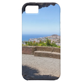 Cave outlook on sea and village on Madeira Case For The iPhone 5