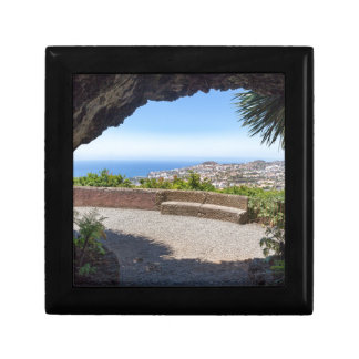 Cave outlook on sea and village on Madeira Gift Box