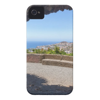 Cave outlook on sea and village on Madeira iPhone 4 Case-Mate Case