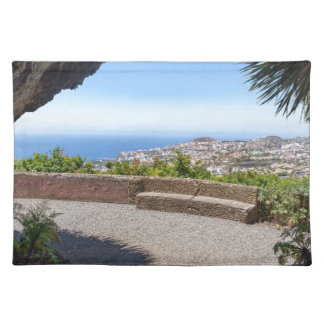 Cave outlook on sea and village on Madeira Placemat