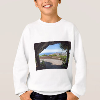Cave outlook on sea and village on Madeira Sweatshirt