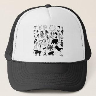 cave paintings - primitive art trucker hat