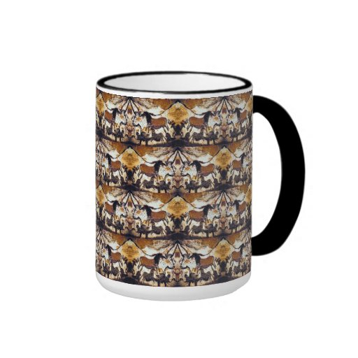 Cave Scribbles Horses Coffee Mugs