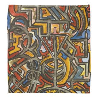 Cave Symbols-Abstract Art Geometric Bandana