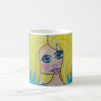 Cave Woman Mug - Blonde/green eyes