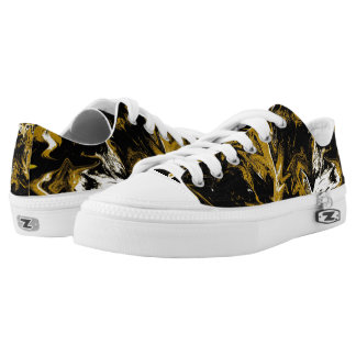 Cave Zigzag Abstract Design Low-Top Sneakers