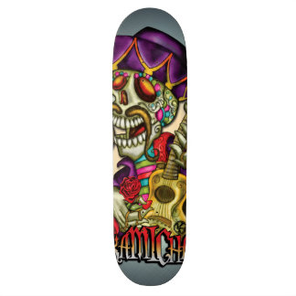 Caveirinha Custom Skate Board