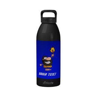 Caveman; Blue Water Bottle