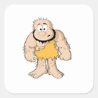 caveman_by_shashidhar90 square sticker