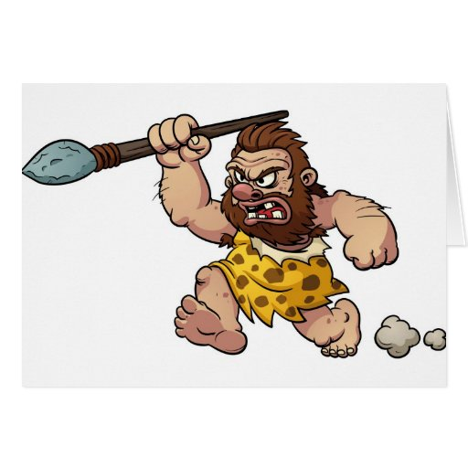 caveman card