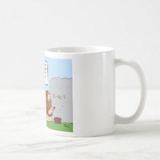 Caveman develops theory of fire. mug