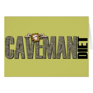 Caveman Diet Greeting Cards