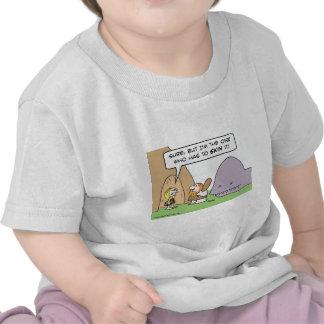 caveman dinosaur skin wife t-shirt