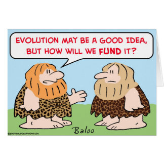 caveman evolution fund greeting card