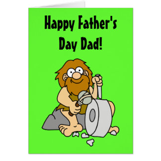 Caveman Father's Day Card