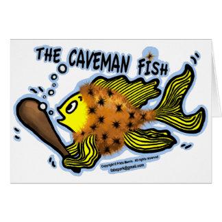 Caveman Fish Greeting Card