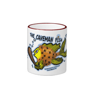 Caveman Fish Coffee Mug