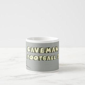 CAVEMAN FOOTBALL ESPRESSO MUG