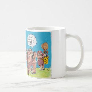 Caveman golfer classic white coffee mug
