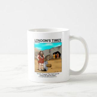 Caveman Got The Club... Funny Gifts & Tees Classic White Coffee Mug