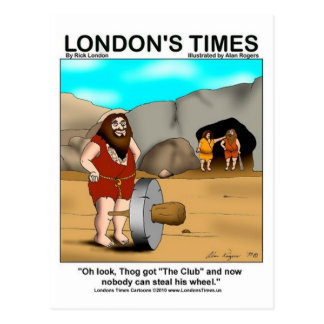 Caveman Got The Club... Funny Gifts & Tees Postcard