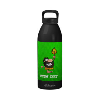 Caveman; Green Reusable Water Bottles