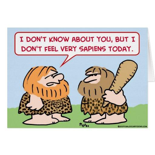 caveman homo sapiens card