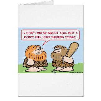 caveman homo sapiens greeting card