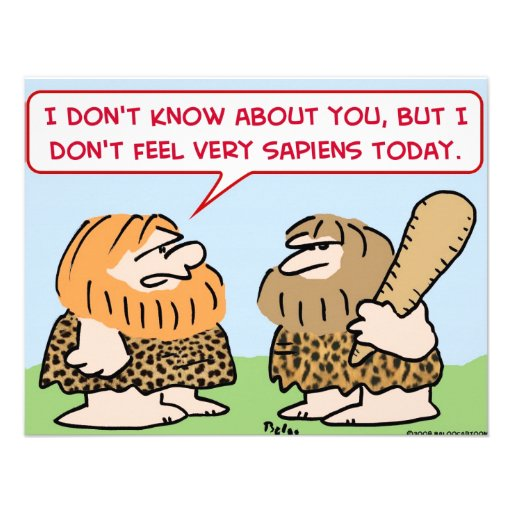 caveman homo sapiens custom invitation
