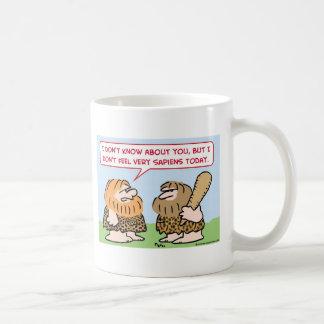 caveman homo sapiens coffee mug