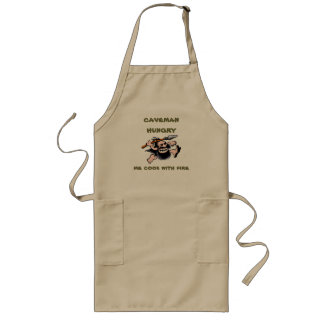 caveman hungry long apron