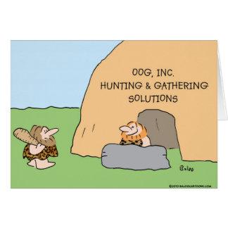 caveman hunting gathering solutions card