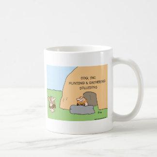 caveman hunting gathering solutions mug