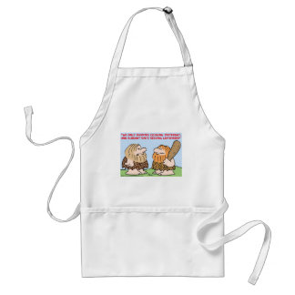 CAVEMAN INVENTED COOKING LEFTOVERS STANDARD APRON
