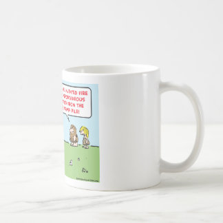 caveman invented fire spontaneous combustion classic white coffee mug