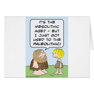 caveman mesolithic paleolithic greeting cards