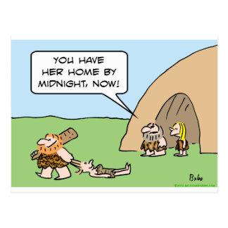 caveman midnight drag hair dating postcard