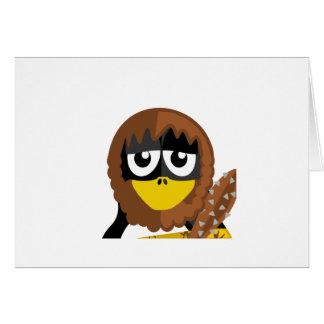 Caveman Penguin Greeting Cards