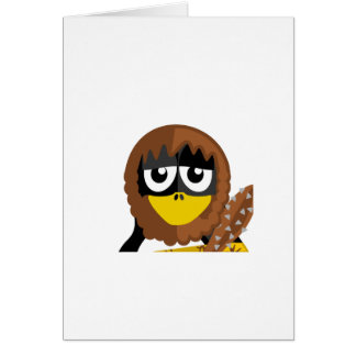 Caveman Penguin Card