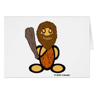 Caveman (plain) greeting card