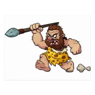 caveman postcard