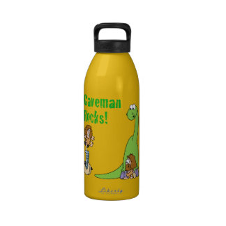 Caveman Rocks Reusable Water Bottle