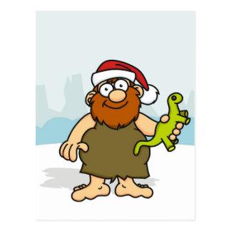 Caveman Santa Postcard