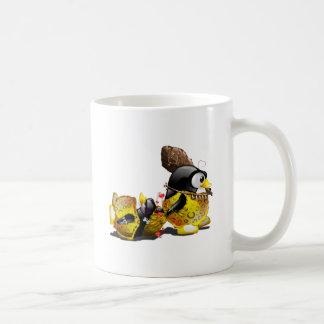 Caveman Tux in Love Classic White Coffee Mug