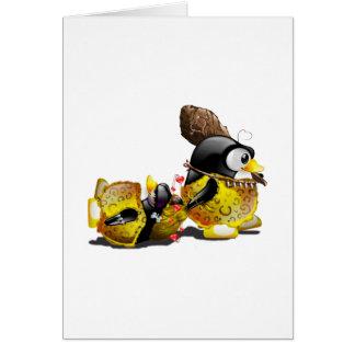 Caveman Tux in Love Greeting Card